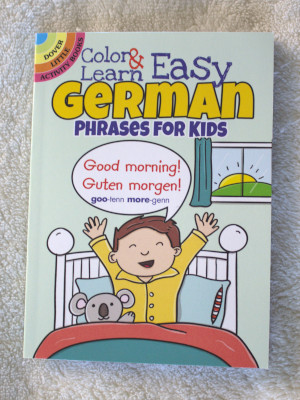 This German phrases coloring book only cost a couple of dollars--well worth it.