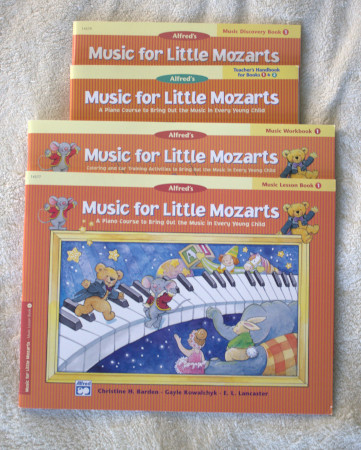 Music for Little Mozarts is designed for preschool through elementary and it appears to be easy to teach.